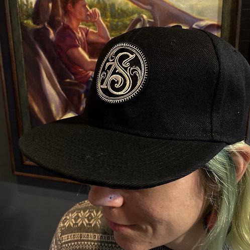 "Black Flat Bill Shop logo hat ""7S"""
