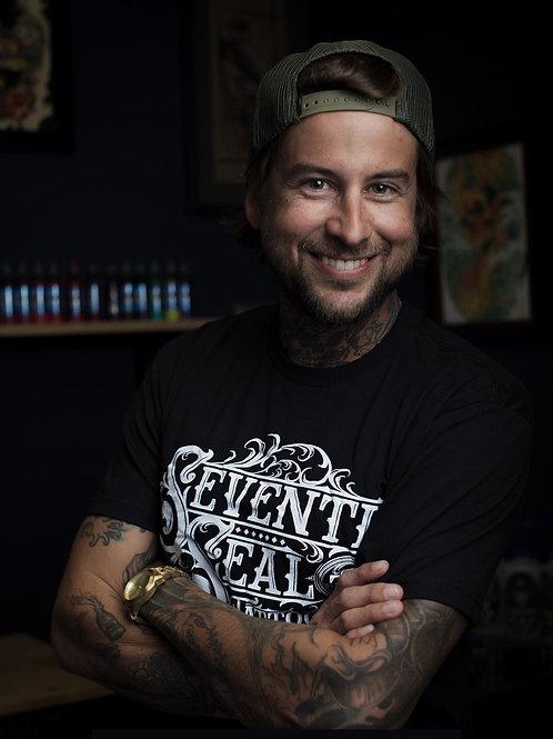 Seventh Seal Tattoo Shop shirt~ Our logo