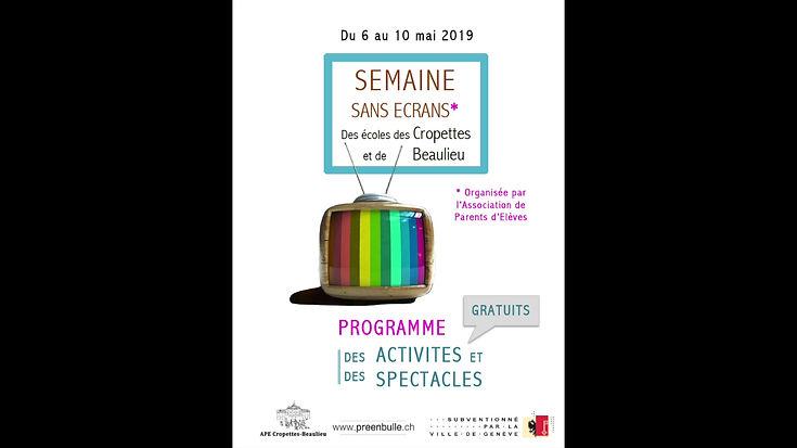 Semaine Sans Ecrans 2019