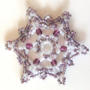 Purple/White Purple crystals