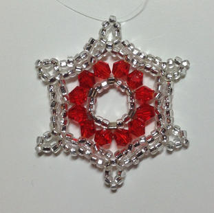 Silver/Red crystals