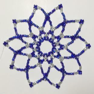 "Glass Beads, 3 1/2""     $15.00"