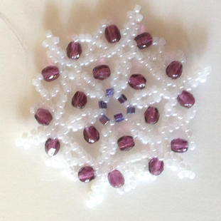 White/purple crystals