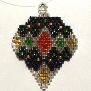 Delica bead/woven Ornament