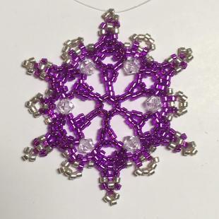 Peyote Lace #4 Purple/silver Delicas
