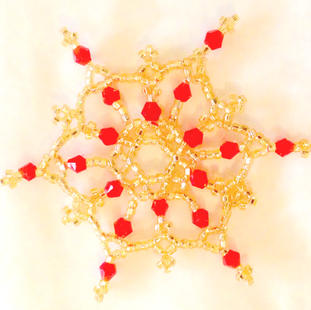 Gold/Red Crystals