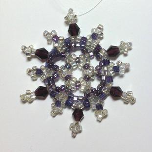 Silver/purple crystals