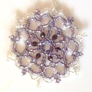 Purple/silver Purple crystals
