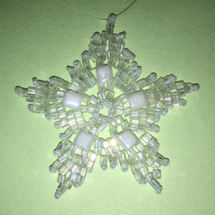 "Starry Night Glass Beads, 1 3/4"" $15.00"