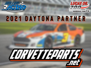 Mullins Racing Welcomes CorvetteParts.net As Sponsor For Daytona ARCA Race