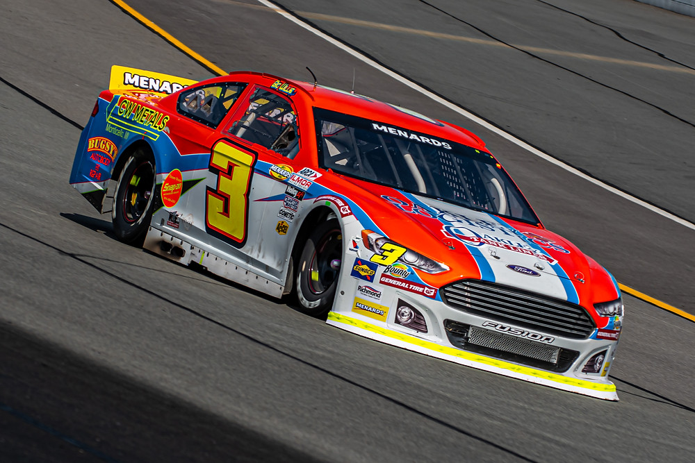 Willie Mullins raced to a 14th-place finish in his Pocono Raceway debut on Friday afternoon during the ARCA Menards Series FORTS USA 150. (Christopher Hockley Photo)