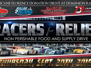 Eagle Towing and Mullins Racing Team Up for Racers for Relief at Dominion Raceway
