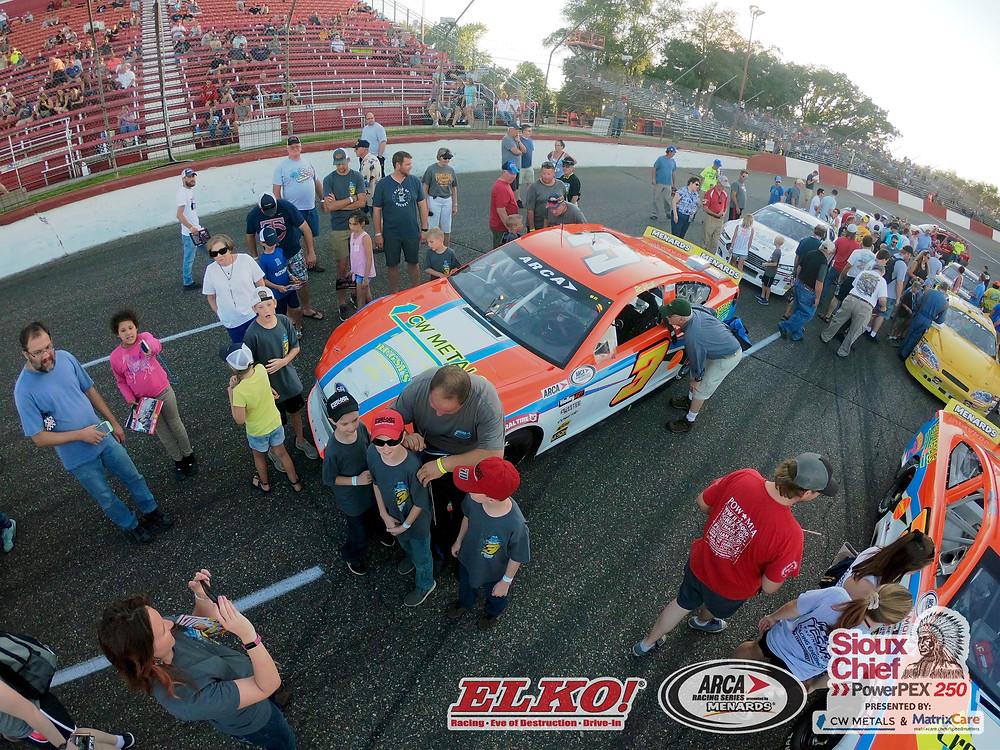 Willie Mullins with the Kottschade Family at Elko Speedway