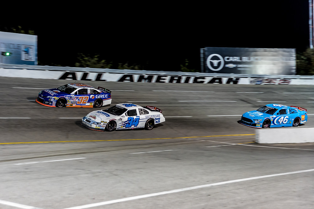 Willie Mullins racing Gus Dean and Thad Moffit at the ARCA Music City 200