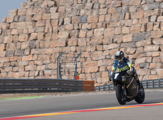 Dorna test the SP7 with Loris Capirossi at the Aragon MotoGP