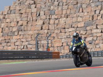 Dorna test the SP7 with Loris Capirossi at the Aragon MotoGP