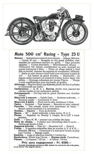 Saroléa Type 23U 500cc of 1928