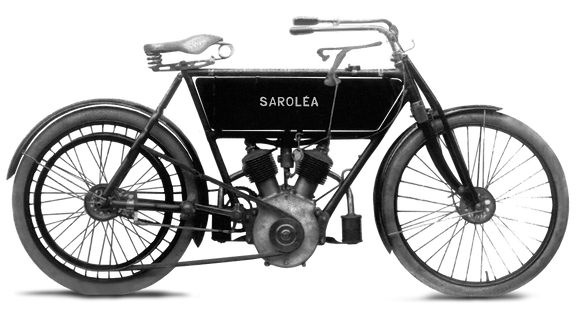 Sarolea V Twin 1907 (open frame)