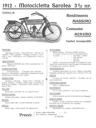 Sarolea 3 ½ HP  499cc SV single speed