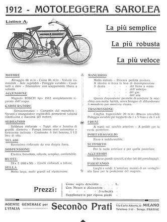 Sarolea 2½ HP lightweight 300cc
