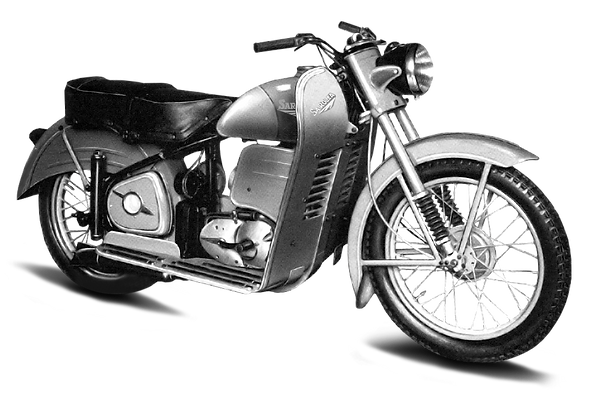 Sarolea 125cc two-strokes Oiseau Bleu in 1950