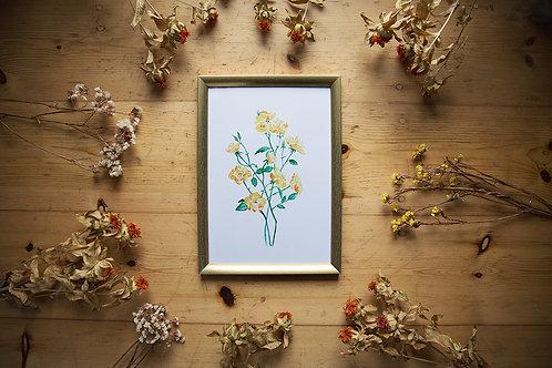 Print Gelbe Rose
