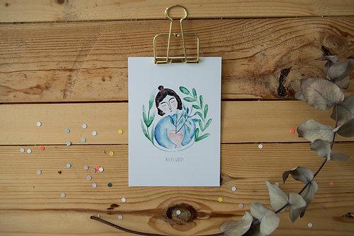 Postkarte Planthugger