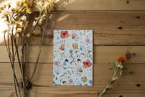 Postkarte / Einladungskarte Flowers