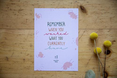 Print A5 Remember