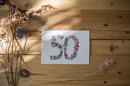 Postkarte / Einladung 50 Jahre