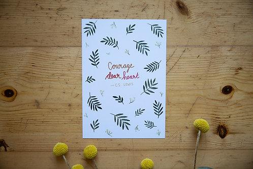 Print A5 Courage dear heart