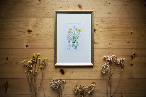 Print Gepresste Blumen