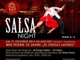 SALSA-NIGHT IM MOLINO   AM 31.OKTOBER 2014