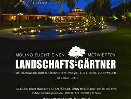 Job-Angebot: Landschafts-Gärtner gesucht