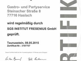 Und wieder ist es ganz offiziell und mit Zertifikat