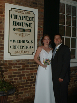 In front of the Chapeze House