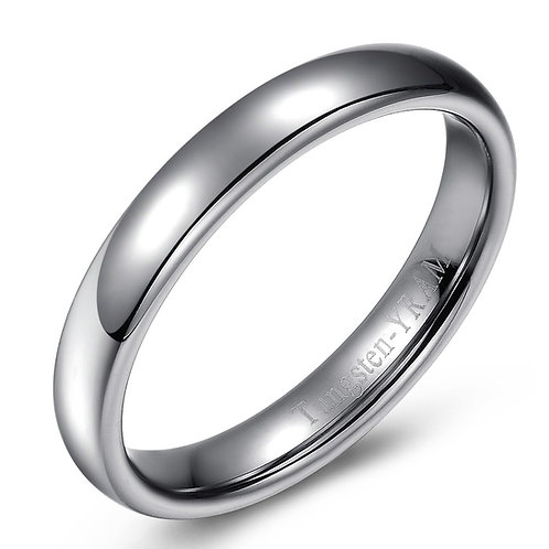 4mm Tungsten band dome top and high polish