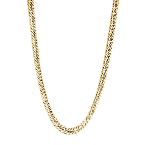 ITALGEM Gold Plated Stainless Steel Double Curb Link Chain