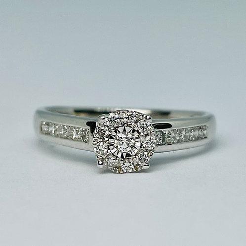 14kt White Gold 0.50ctw Diamond Engagement Ring Set