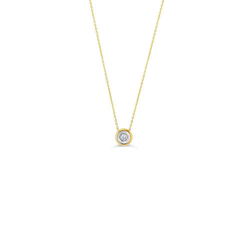 10K YG 0.04CT Hope Diamond Bezel Pendant with Chain