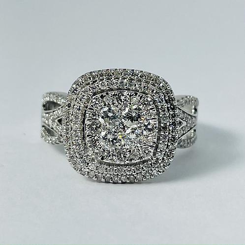 10kt White Gold 1.00ctw Diamond Ring
