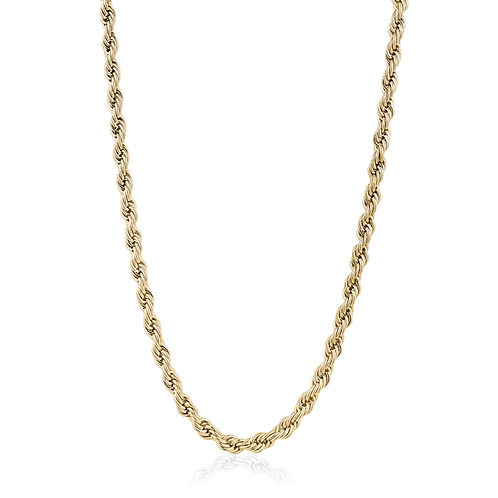 ITALGEM Gold Plated Stainless Steel 6mm Rope Chain