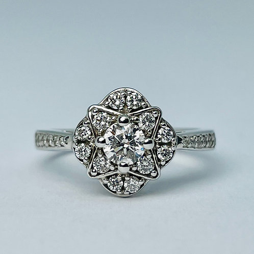 14kt White Gold 0.55ct Diamond Engagement Ring