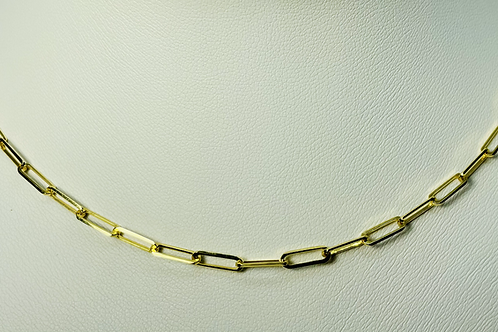 10kt Gold Paper Clip Chain