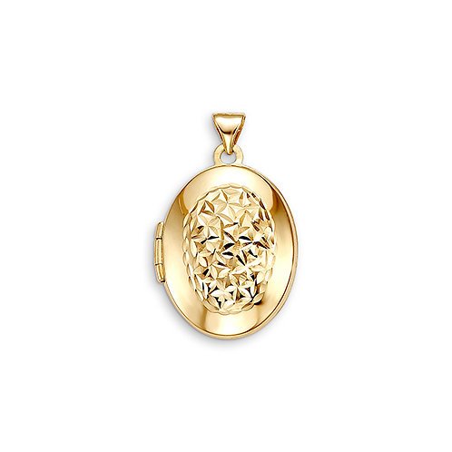 10kt Gold Sentiments Oval Shaped Locket