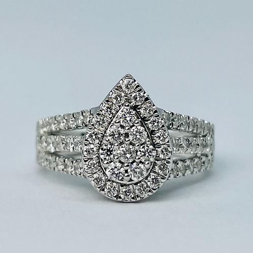 10kt White Gold 1.00ct Diamond Engagement Ring