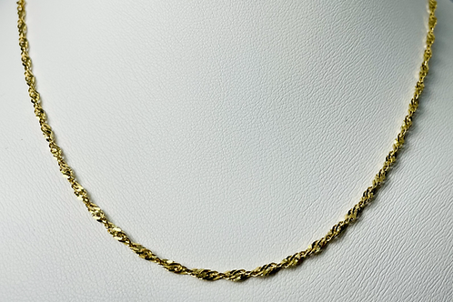 10kt Gold Singapore Chain (Large)