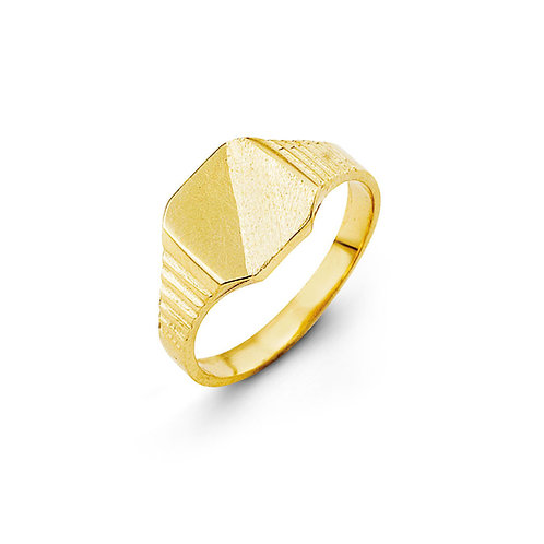10kt Gold Baby Bella Signet Ring