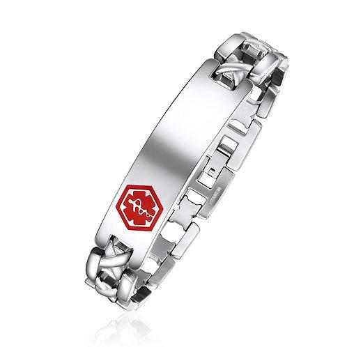 Stainless Steel Medical ID bracelet