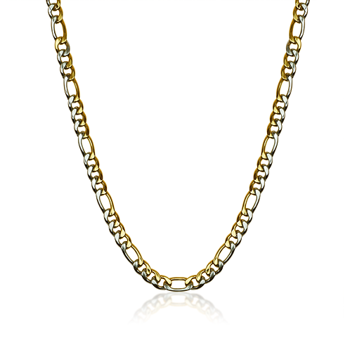 ITALGEM Gold Plated Stainless Steel 9.5mm Figaro Chain